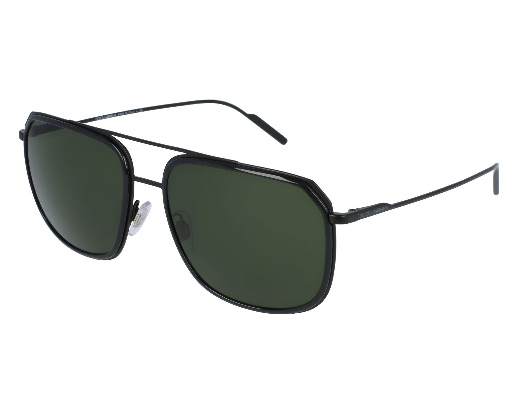 Dolce and Gabbana DG2165 Sonnenbrille Schwarz / Mattschwarz 110671 58mm ZFZuHT