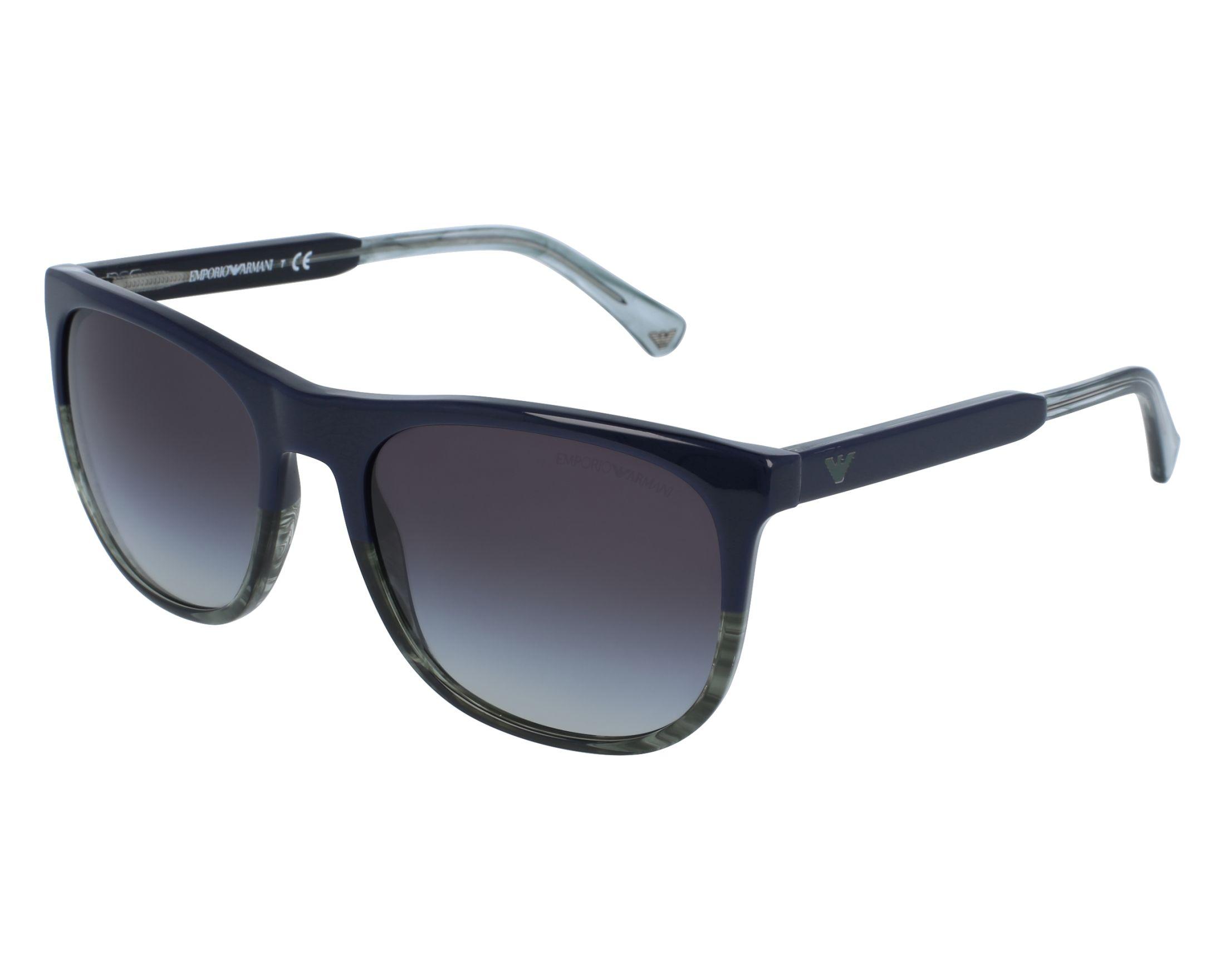 Emporio Armani EA4099 Sonnenbrille Schwarz / Grau 556687 56mm kP7z7rx5