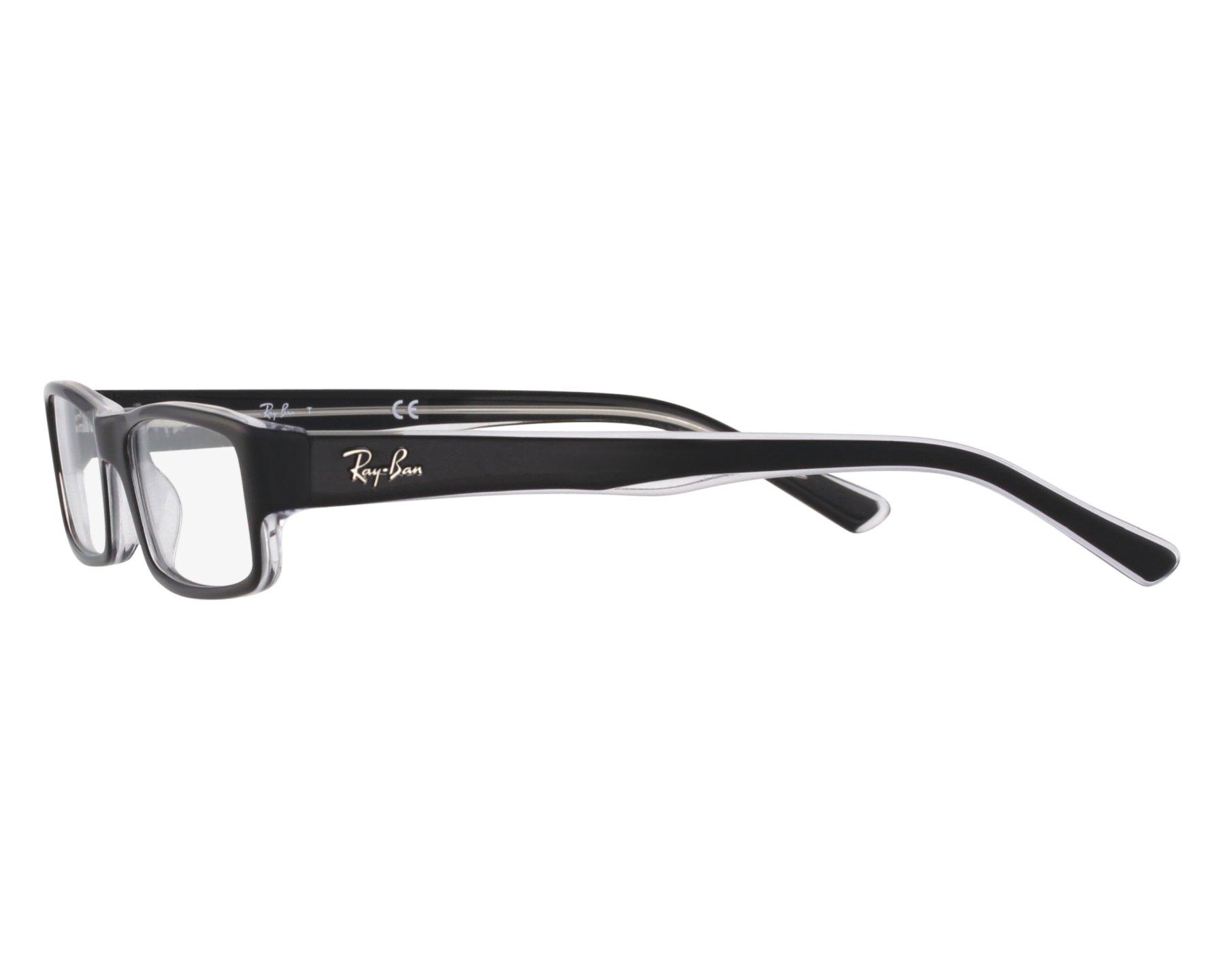 a24d597d21 Brillen Ray-Ban RX-5246 2034 50-16 schwarz kristall Vorderansicht