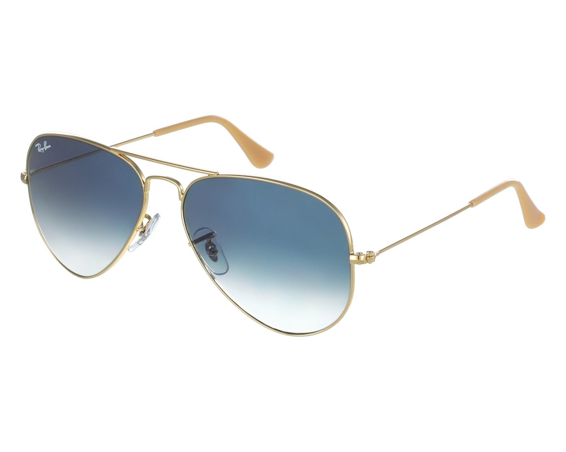 Vorschaubild Sonnenbrillen Ray-Ban RB-3025 001 3F 55-14 gold Vorderansicht 05643c8985bc