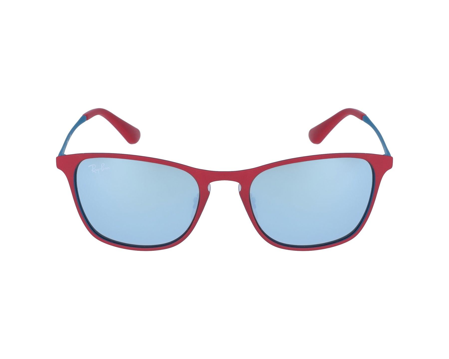Ray-Ban Junior Kinderbrillen Sonnenbrille » RJ9539S«, rot, 256/30 - rot/grau
