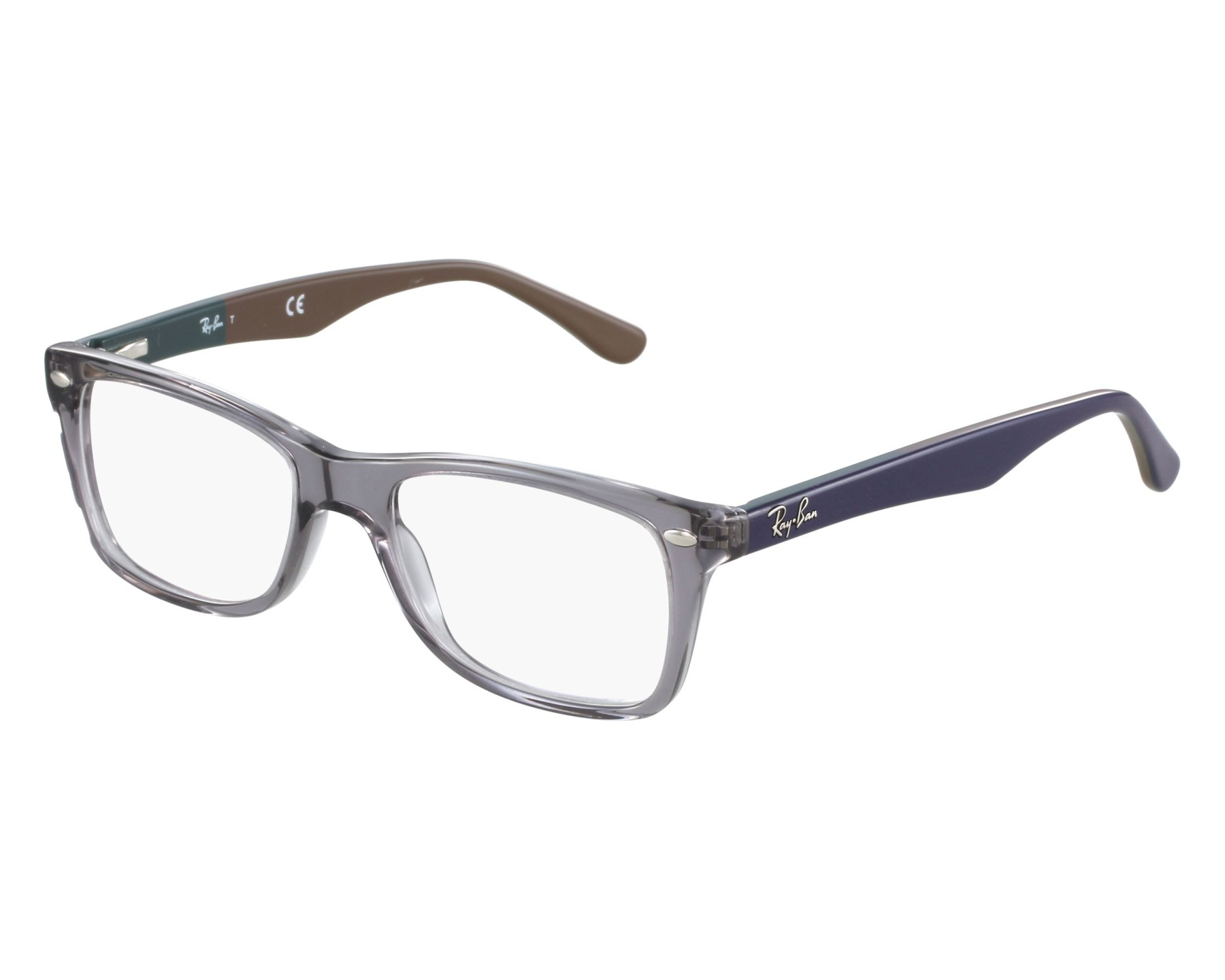 284549e6e Brillen Ray-Ban RX-5228 5546 53-17 grau blau Vorderansicht