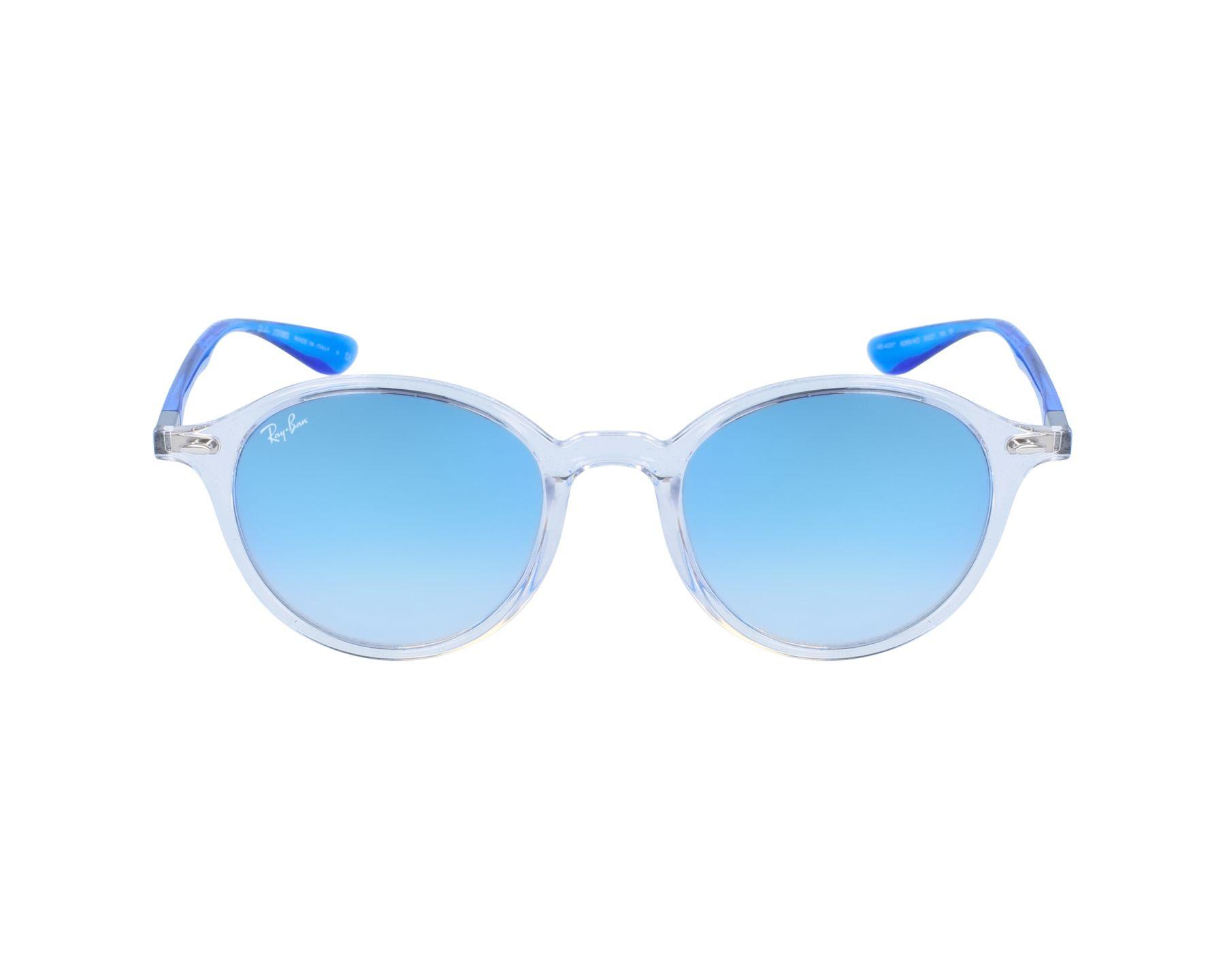 b148b0f5fcdc92 Sonnenbrillen Ray-Ban RB-4237 62894O 50-21 weiß blau Profilansicht