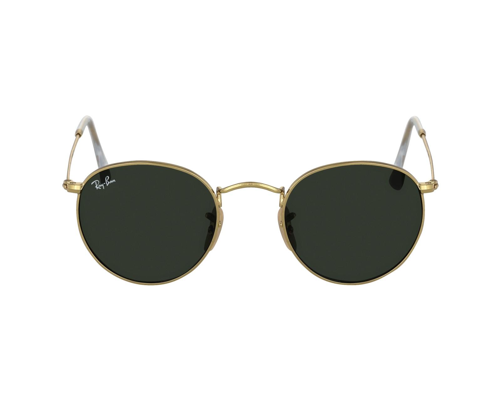 Ray-Ban Sonnenbrille RB-3447 001 gold - Gläser: brau-grün - Visionet
