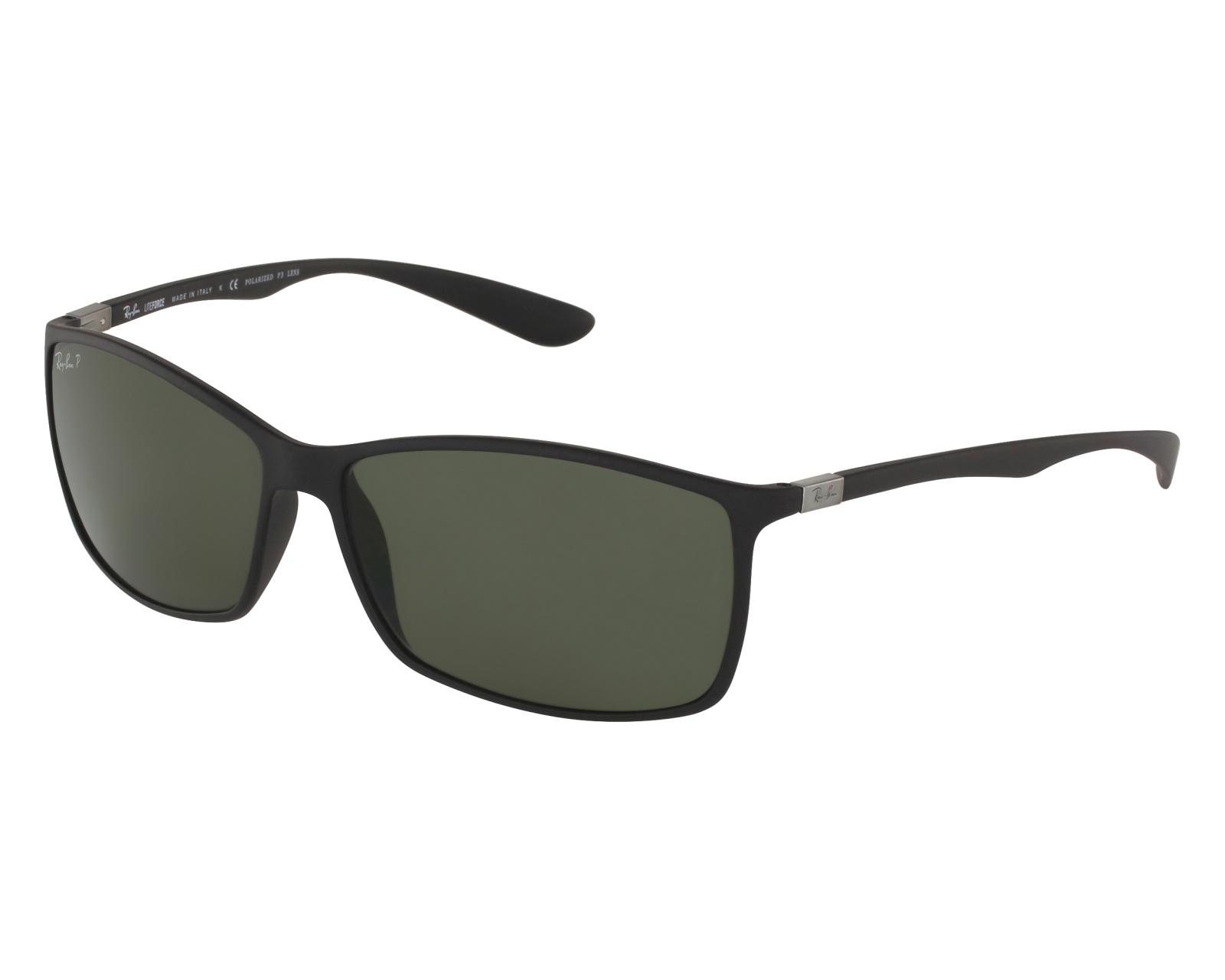 Ray-Ban Liteforce Sonnenbrille Mattschwarz 601S9A Polarisiert 62mm ip3G5W72