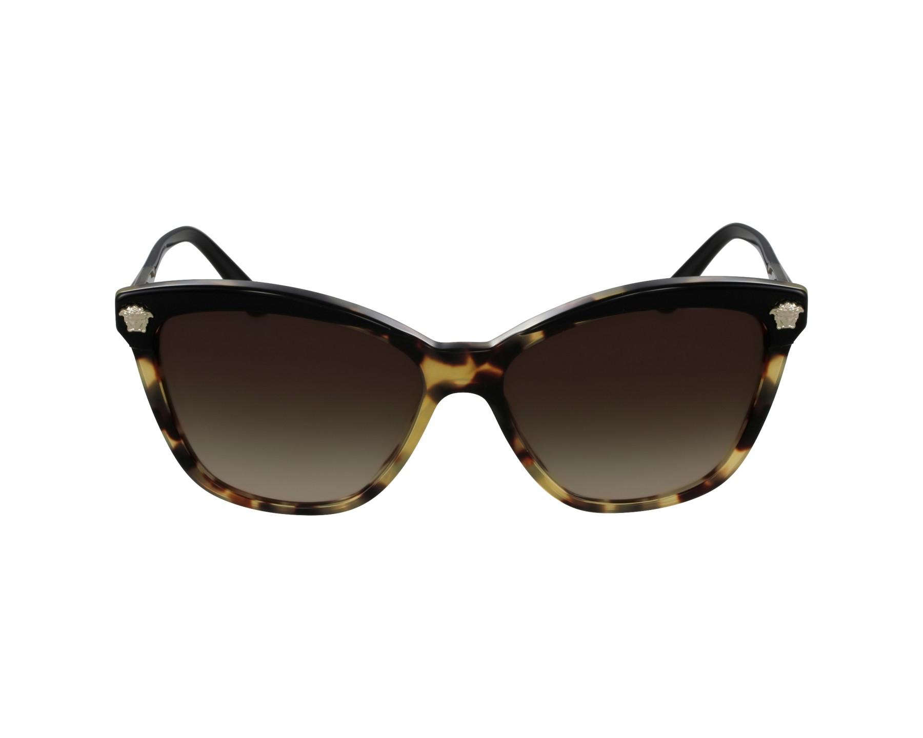 Versace VE4313 Sonnenbrille Schwarz und Havanna 5177/13 57mm K5m9J