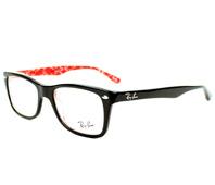 e08a81978 Ray-Ban Brillen RX-5228 2479 50-17 schwarz rot