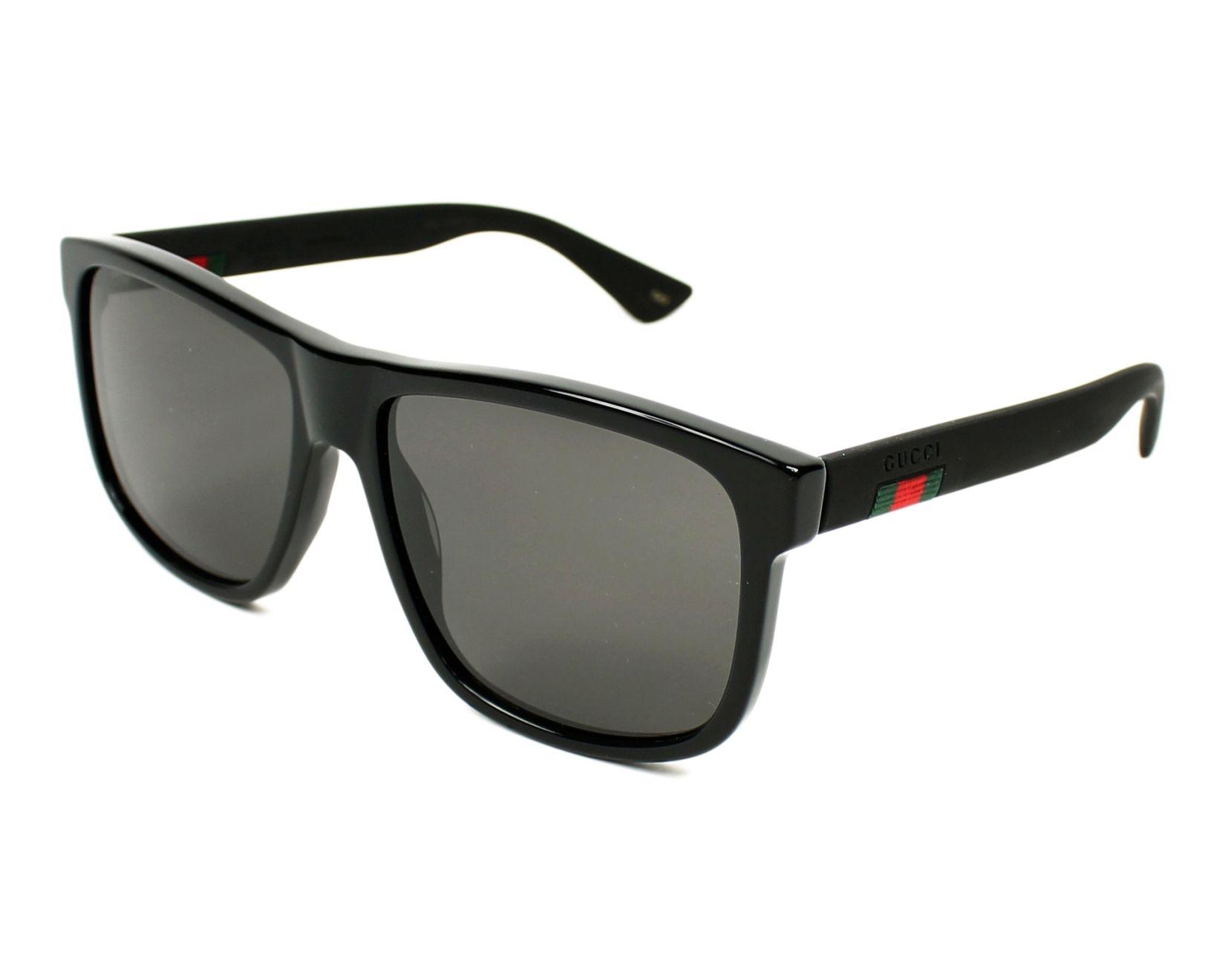 ddeeae03d41 Sonnenbrillen Gucci GG-0010-S 001 58-16 schwarz schwarz Profilansicht