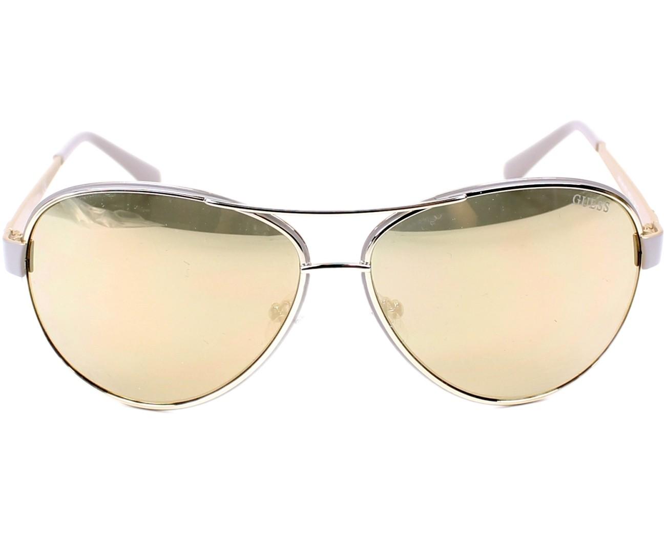 Guess GU7443 Sonnenbrille Grau und Silber 57C 60mm 3hk0ya
