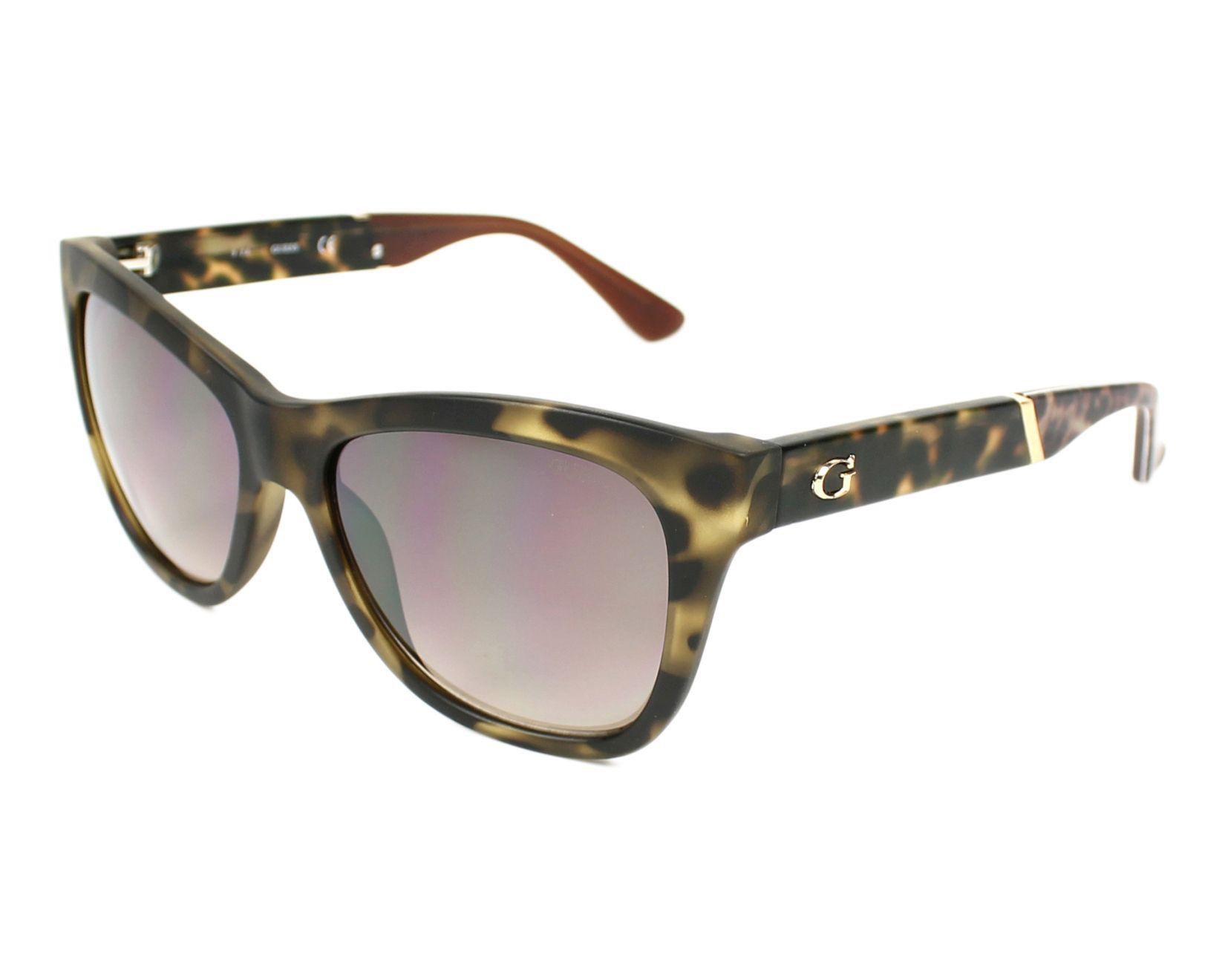 Guess GU7472 Sonnenbrille Schwarz glänzend 01B 56mm E38ODa