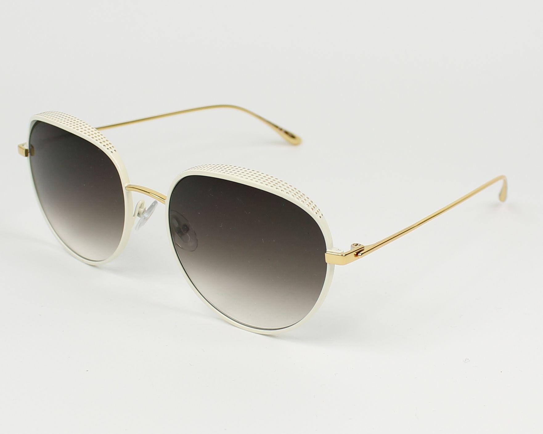 Jimmy Choo Ello/S Sonnenbrille Weiß und Gold ONR 56mm YfQu7vvCt