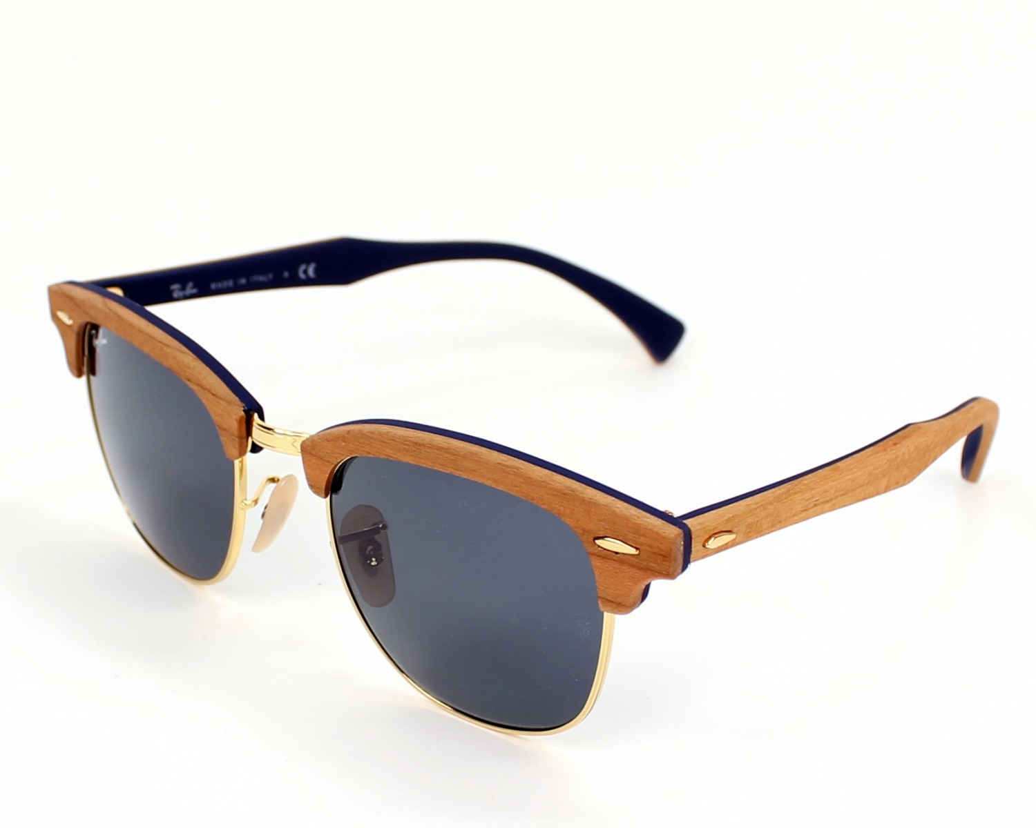 Ray-Ban RB3016M Sonnenbrille Holz / Gold 1180R5 51mm dcieE