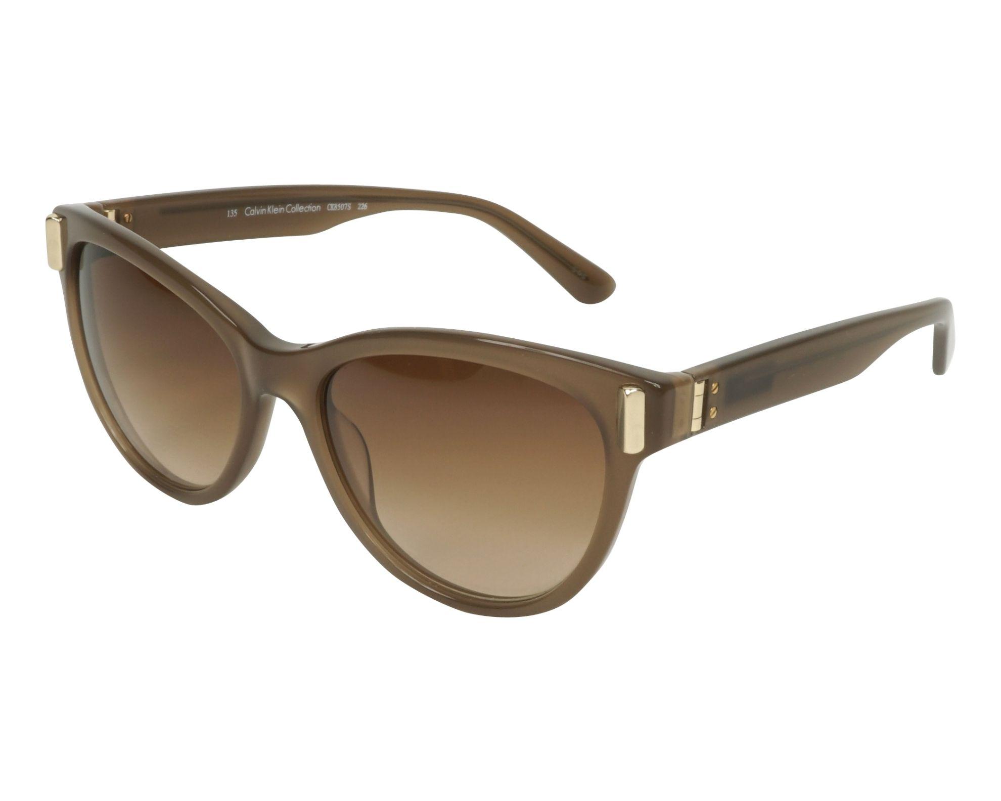Calvin Klein Damen Sonnenbrille » CK8507S«, braun, 226 - braun/braun