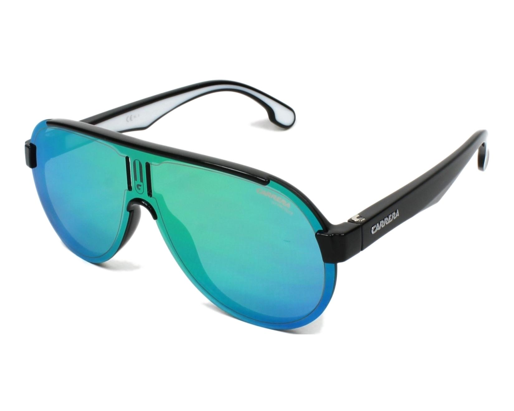 Carrera Eyewear Herren Sonnenbrille » CARRERA 1008/S«, schwarz, 807/Z9 - schwarz/grün
