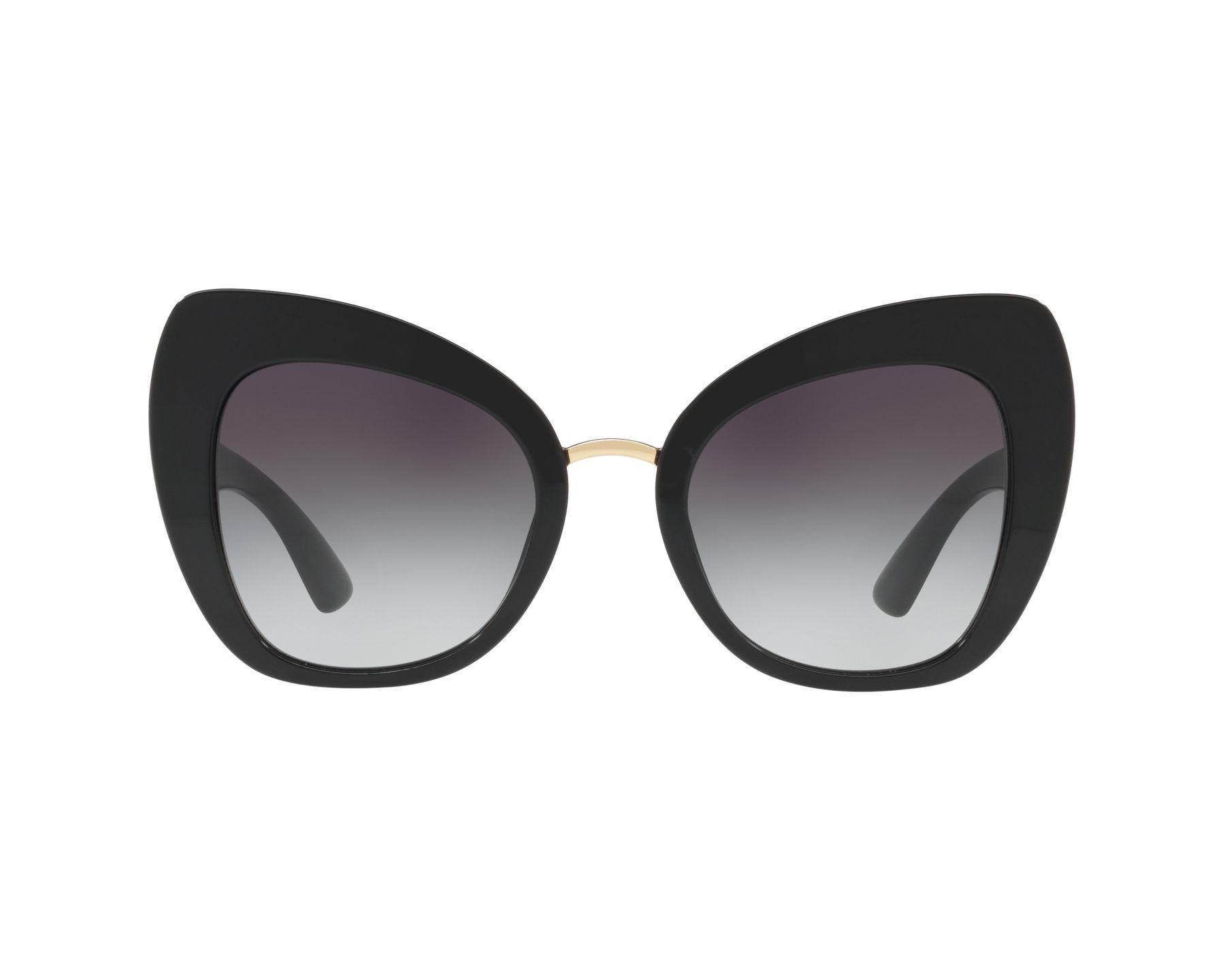 DOLCE & GABBANA Dolce & Gabbana Damen Sonnenbrille » DG4319«, schwarz, 501/8G - schwarz/grau