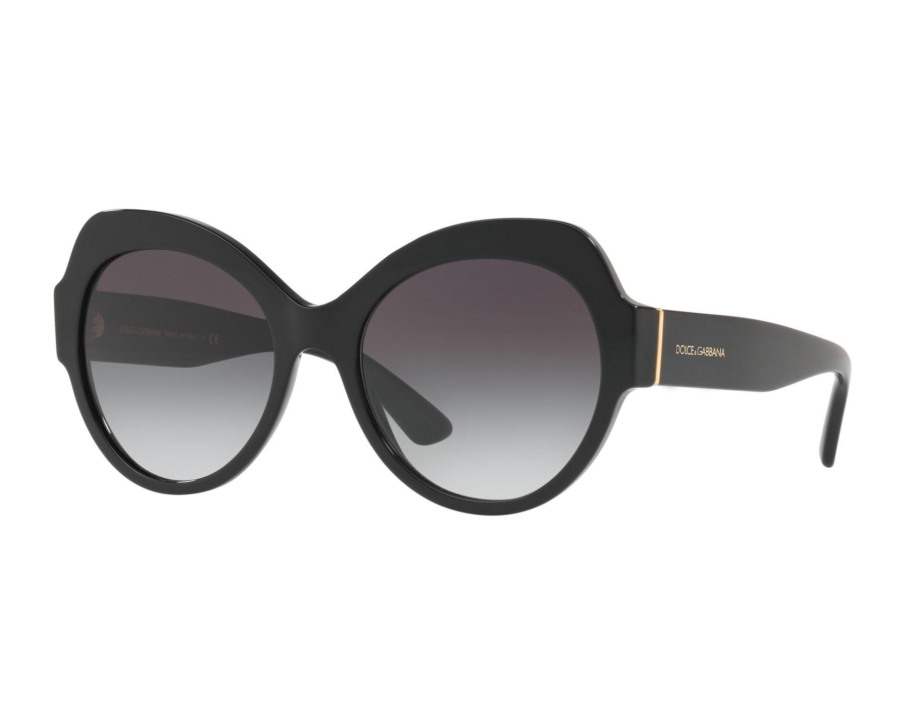 Dolce and Gabbana DG4320 Sonnenbrille Schwarz 501/8G 56mm HGyRczNtyb