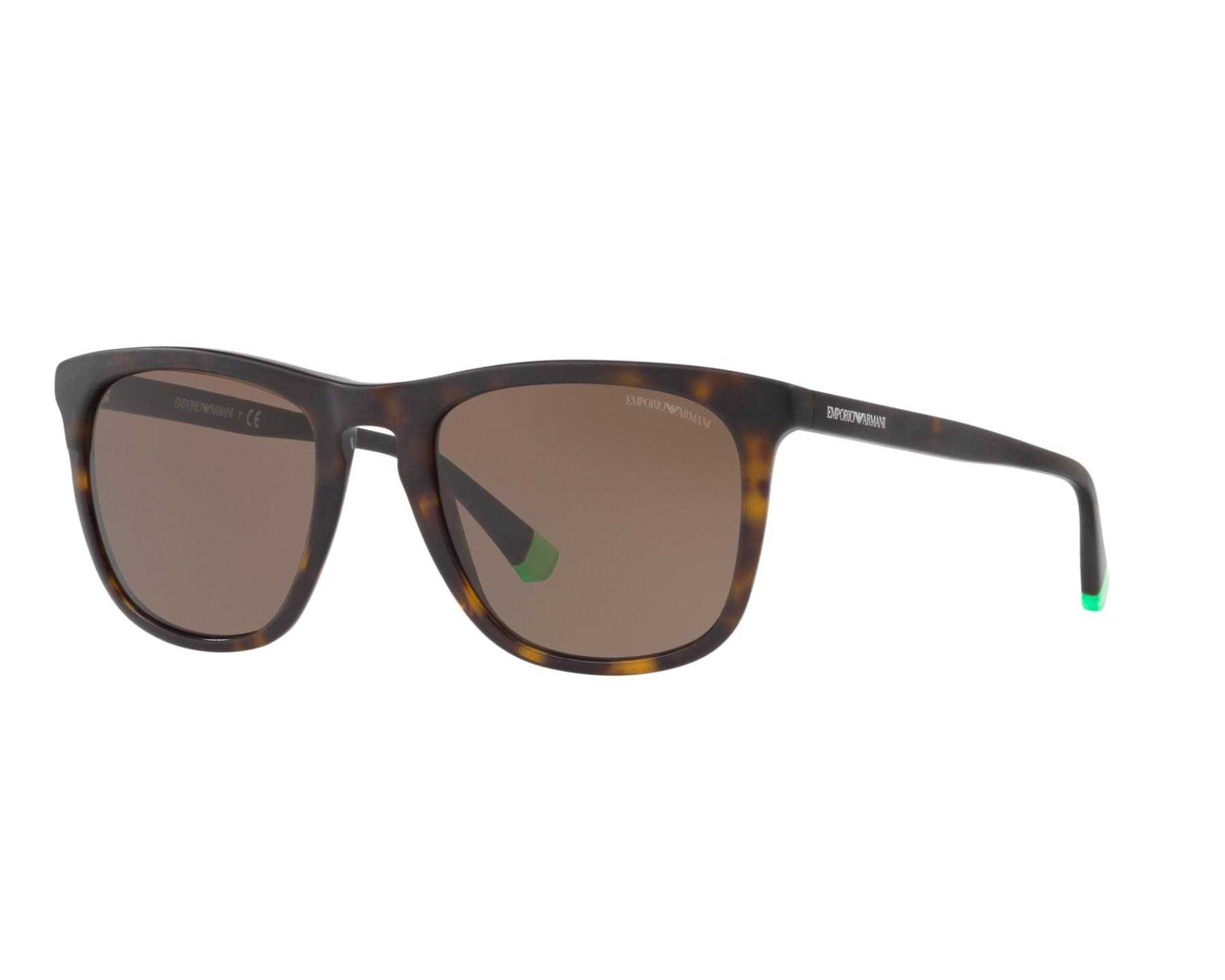 Emporio Armani EA4105 Sonnenbrille Mattgrün 55976R 53mm J3THJtle