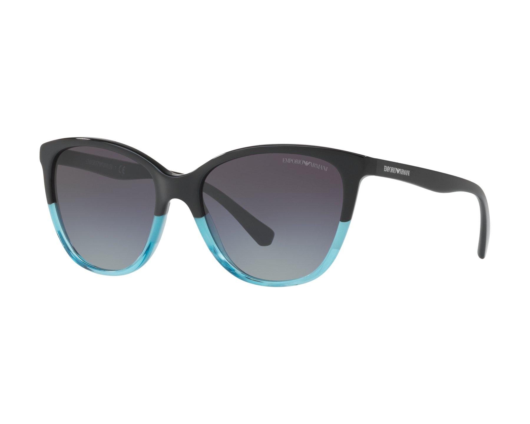 Emporio Armani Damen Sonnenbrille » EA4110«, schwarz, 500113 - schwarz/braun