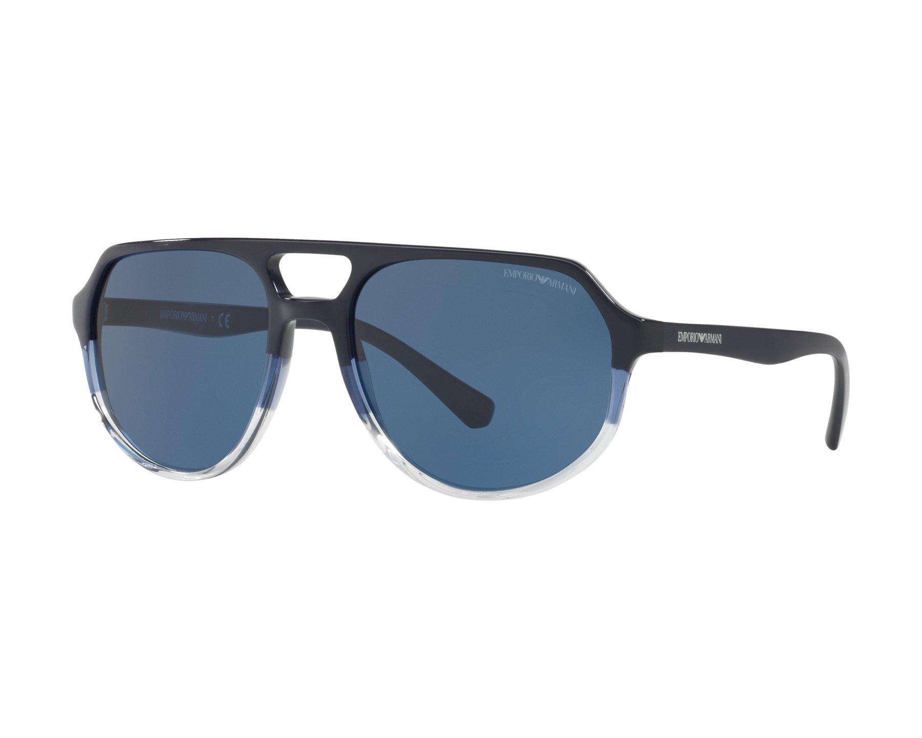 Emporio Armani Herren Sonnenbrille » EA4111«, blau, 562980 - blau/blau