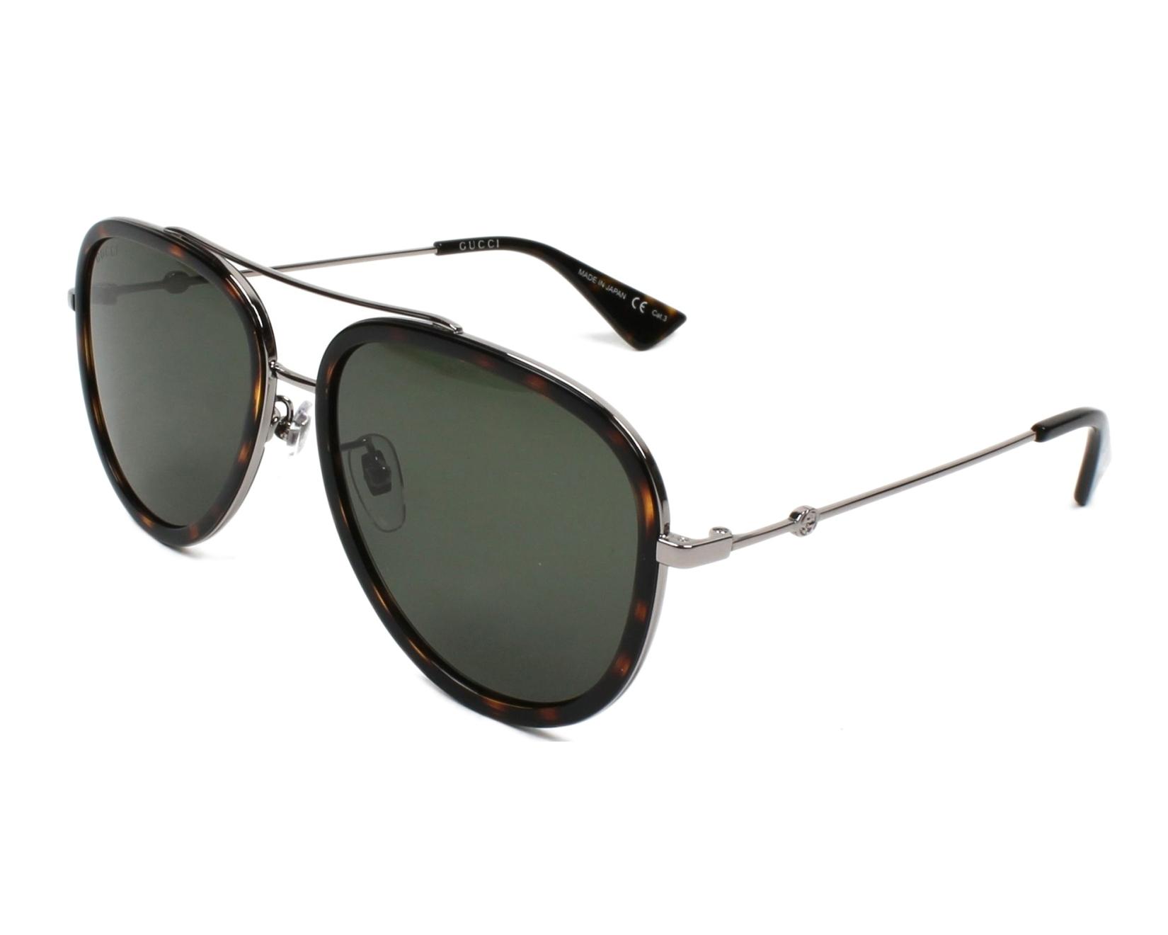 Gucci GG0062S Sonnenbrille Gold / Grün 003 57mm sMOo7rsW6
