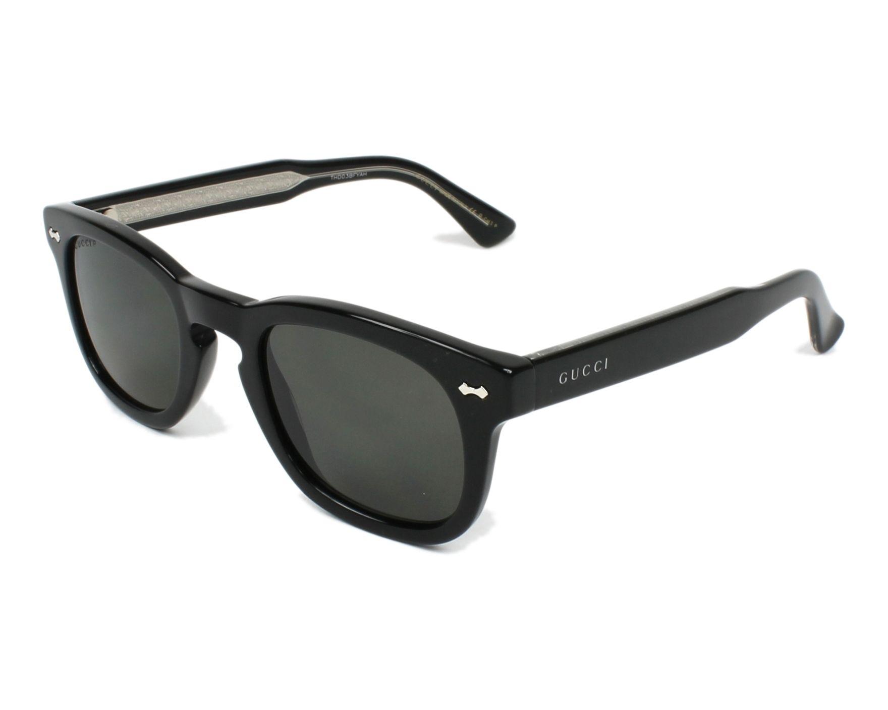 Gucci GG0182S Sonnenbrille Schwarz 001 49mm rOyOy9qbFt