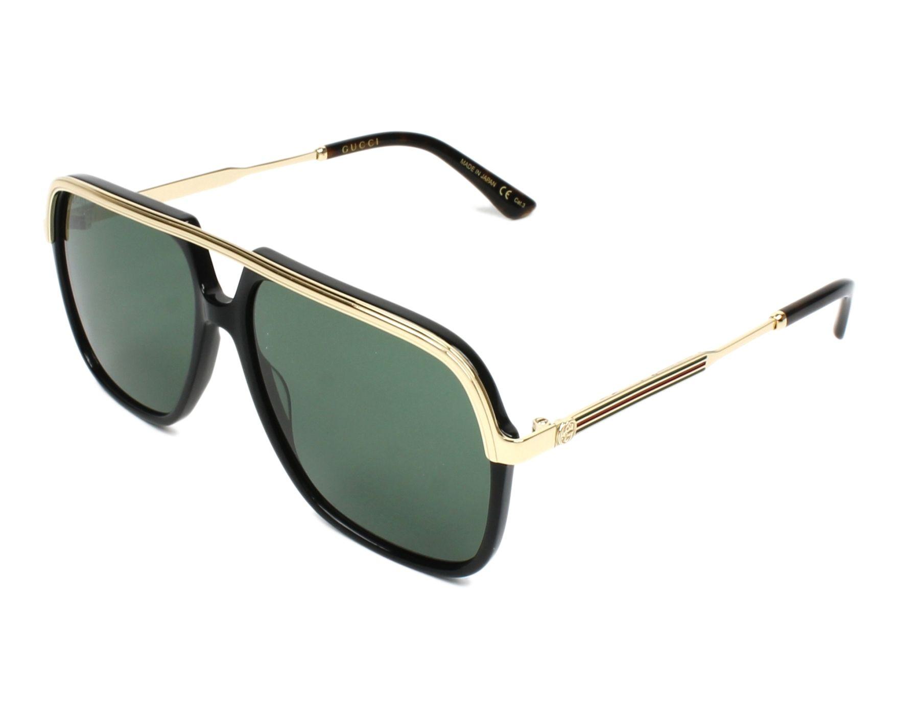 1b1f6d4d3a0 Sonnenbrillen Gucci GG-0200-S 001 57-14 schwarz gold Profilansicht