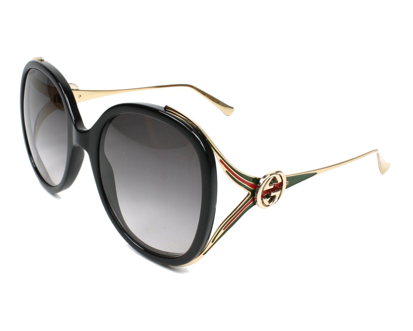 Gucci Damen Sonnenbrille GG0226S 002, Braun (2/Brown), 56