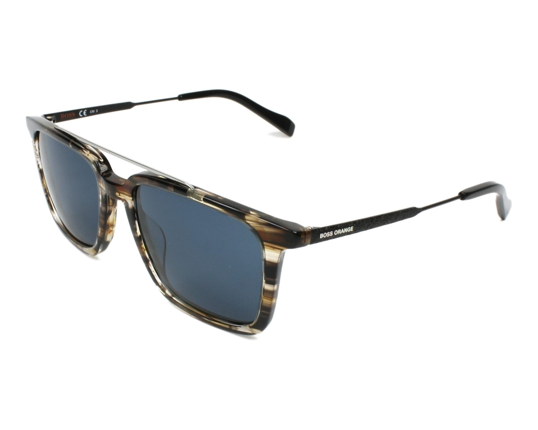 Boss Orange Herren Sonnenbrille » BO 0305/S«, braun, KVI/KU - braun/blau