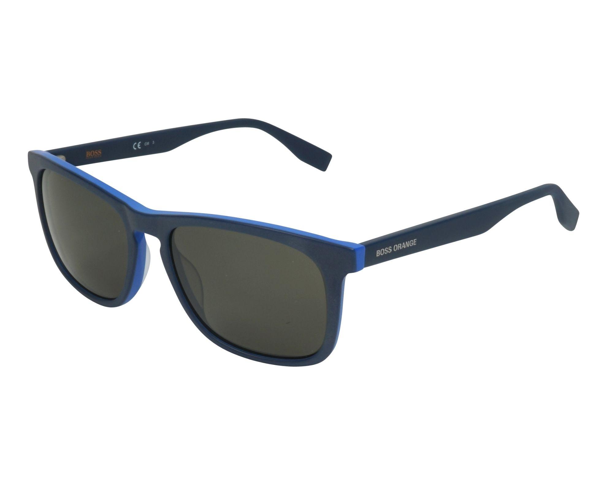 Boss Orange Herren Sonnenbrille » BO 0317/S«, schwarz, 807/QT - schwarz/grün
