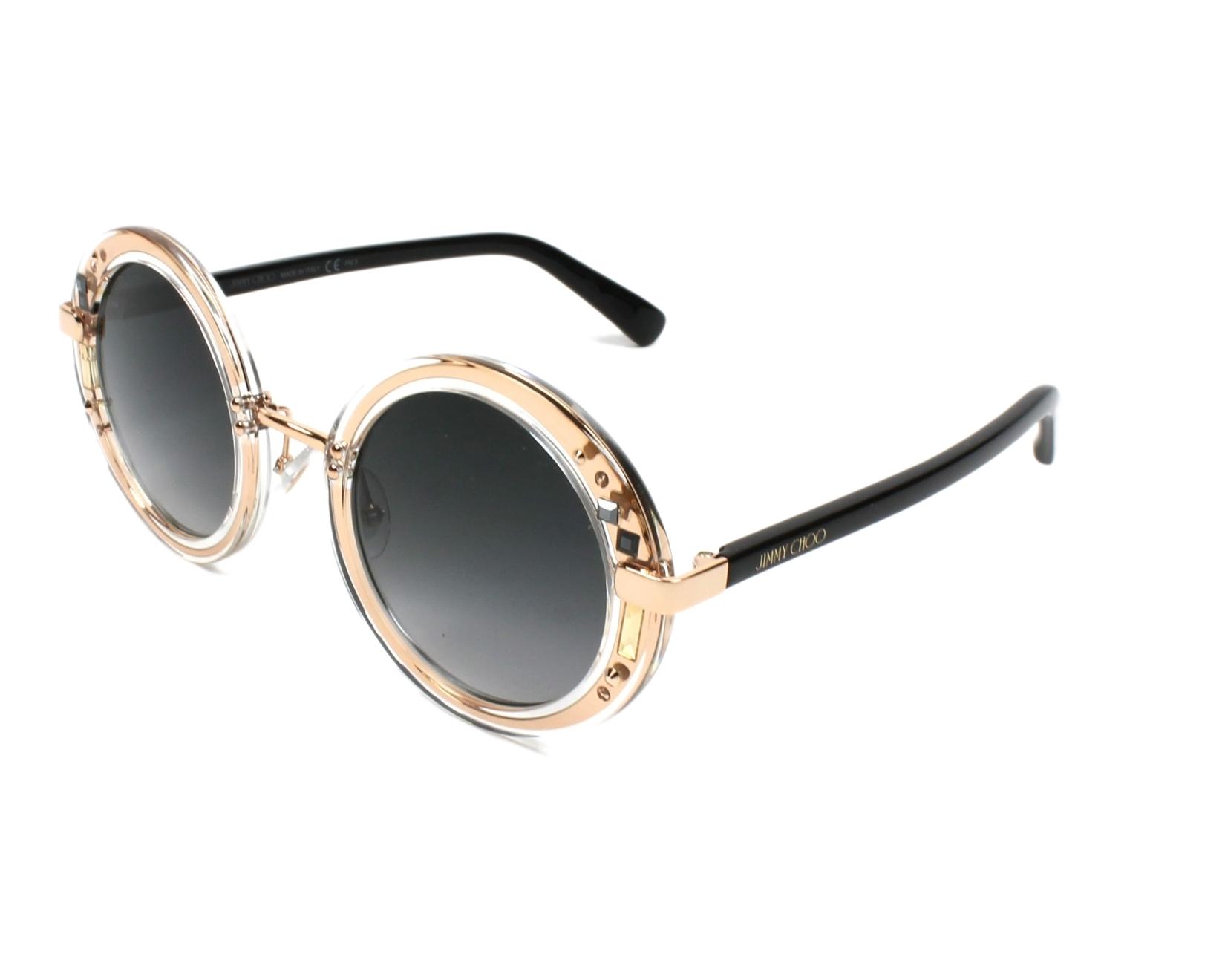 Jimmy Choo Gem/S Sonnenbrille Gold / Schwarz 1FN 48mm CDVwIL