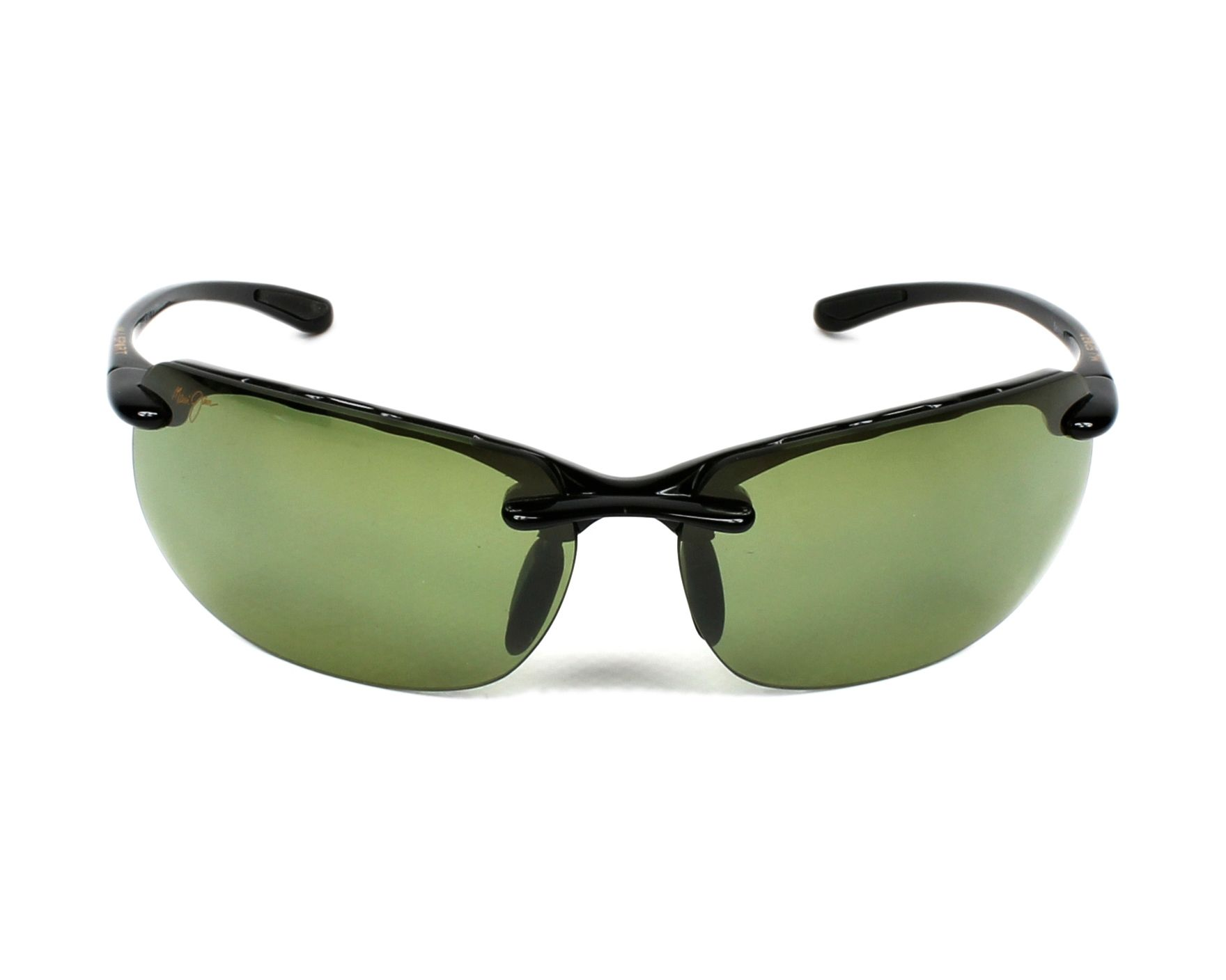Maui Jim Banyans Sonnenbrille Schwarz glänzend HT412-02 Polarisiert 70mm KrIzyv