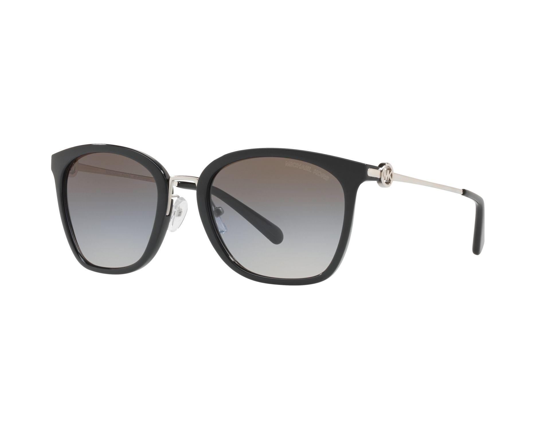 MICHAEL KORS Michael Kors Damen Sonnenbrille »LUGANO MK2064«, schwarz, 3005M0 - schwarz/ blau