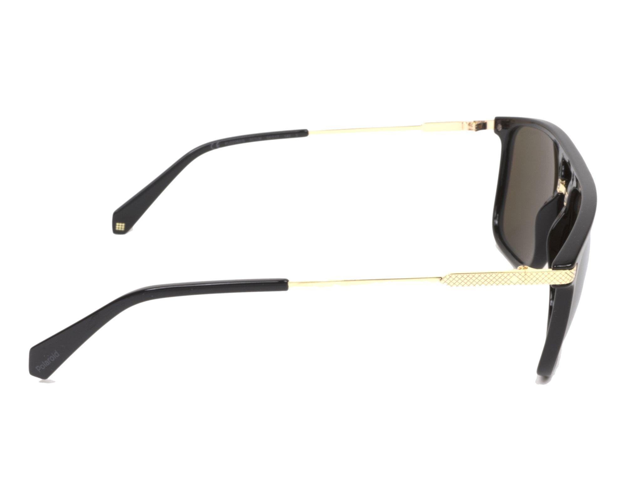 Polaroid Herren Sonnenbrille » PLD 2060/S«, schwarz, 807/LM - schwarz/ gold
