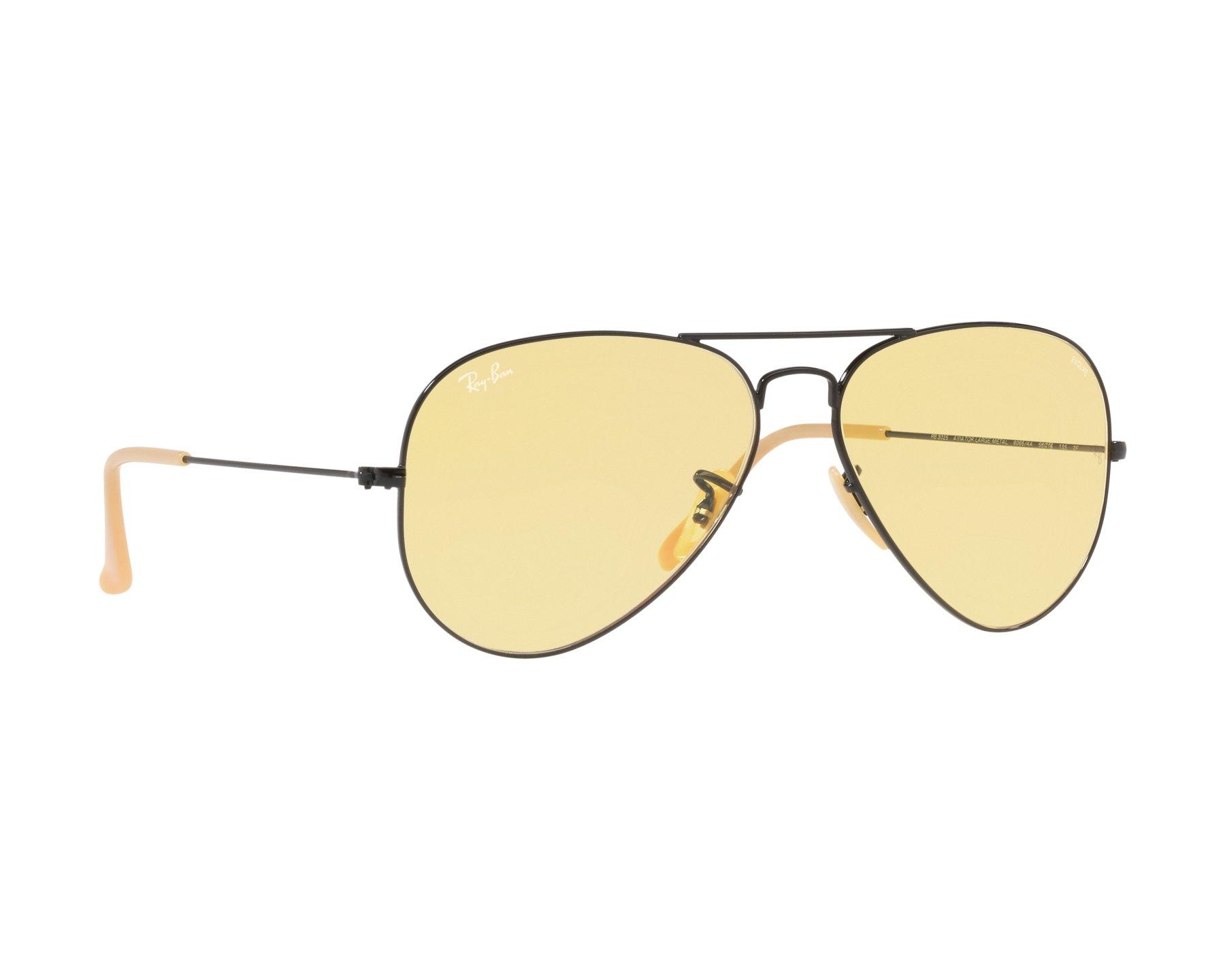 Ray Ban Ray-Ban Sonnenbrille »aviator Large Metal Rb3025«, Schwarz, 90664a - Schwarz/gelb