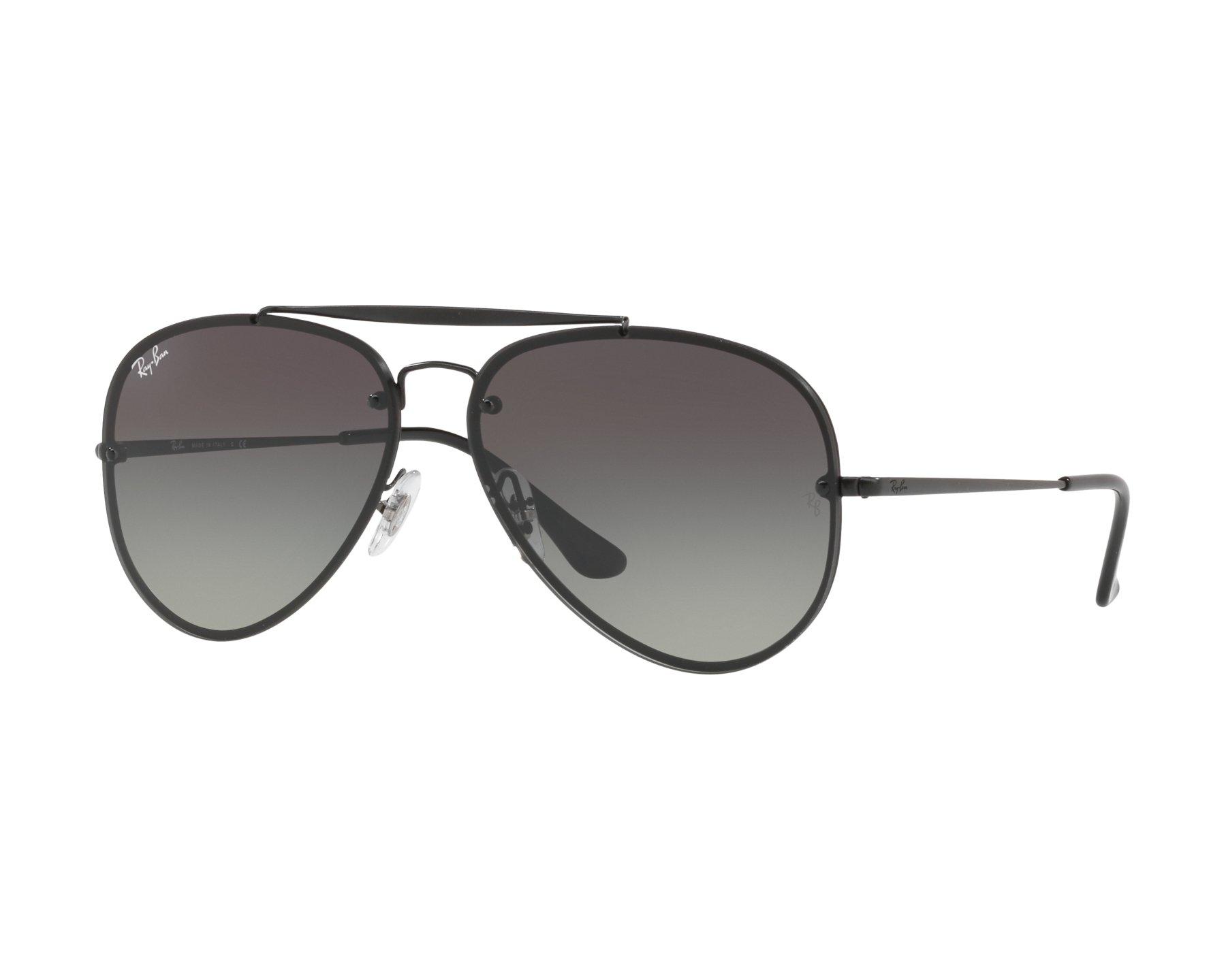 RAY BAN RAY-BAN Sonnenbrille »BLAZE AVIATOR RB3584N«, schwarz, 153/11 - schwarz/grau