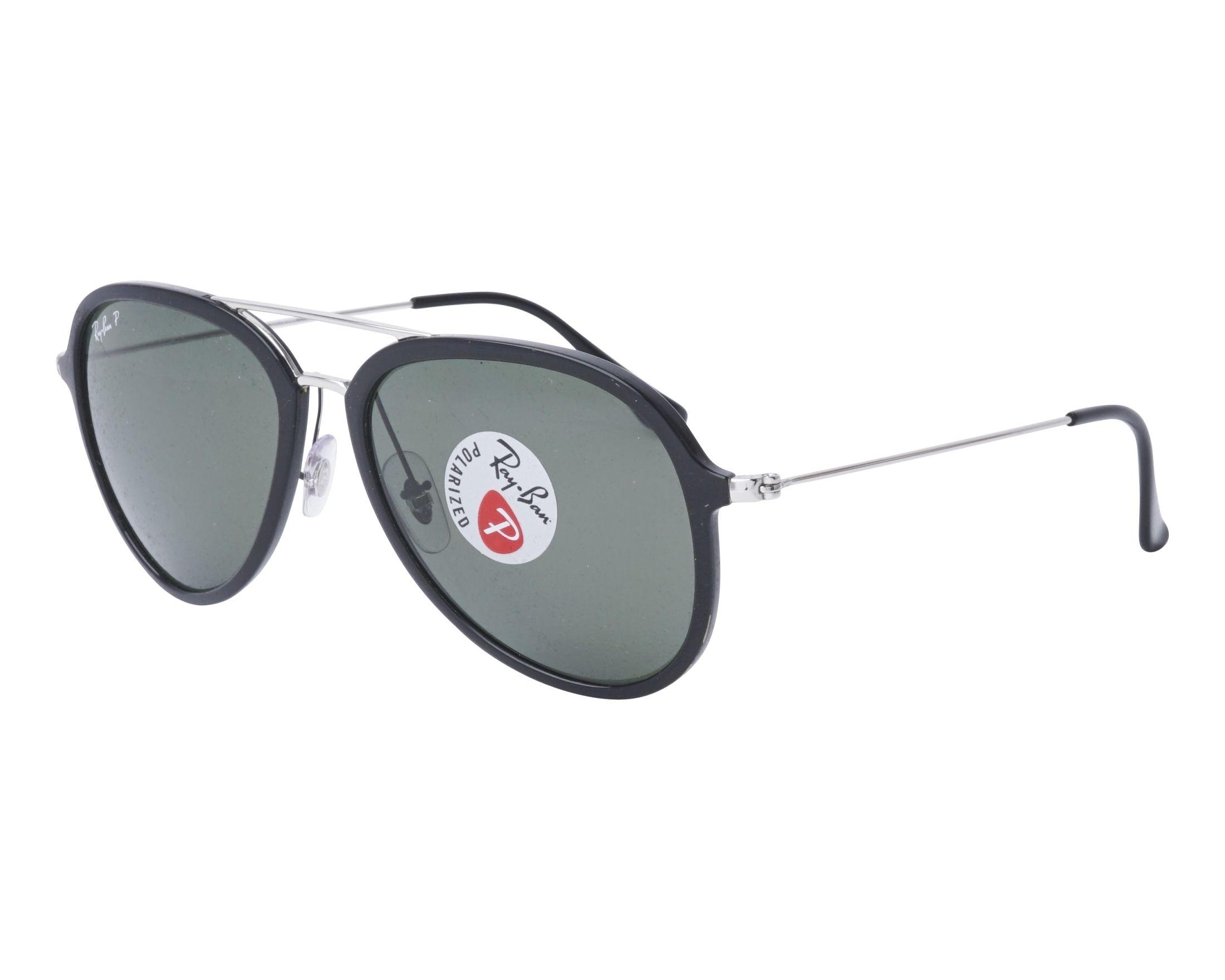 Sonnenbrillen Ray-Ban RB-4298 601/9A 57-17 schwarz silber Profilansicht
