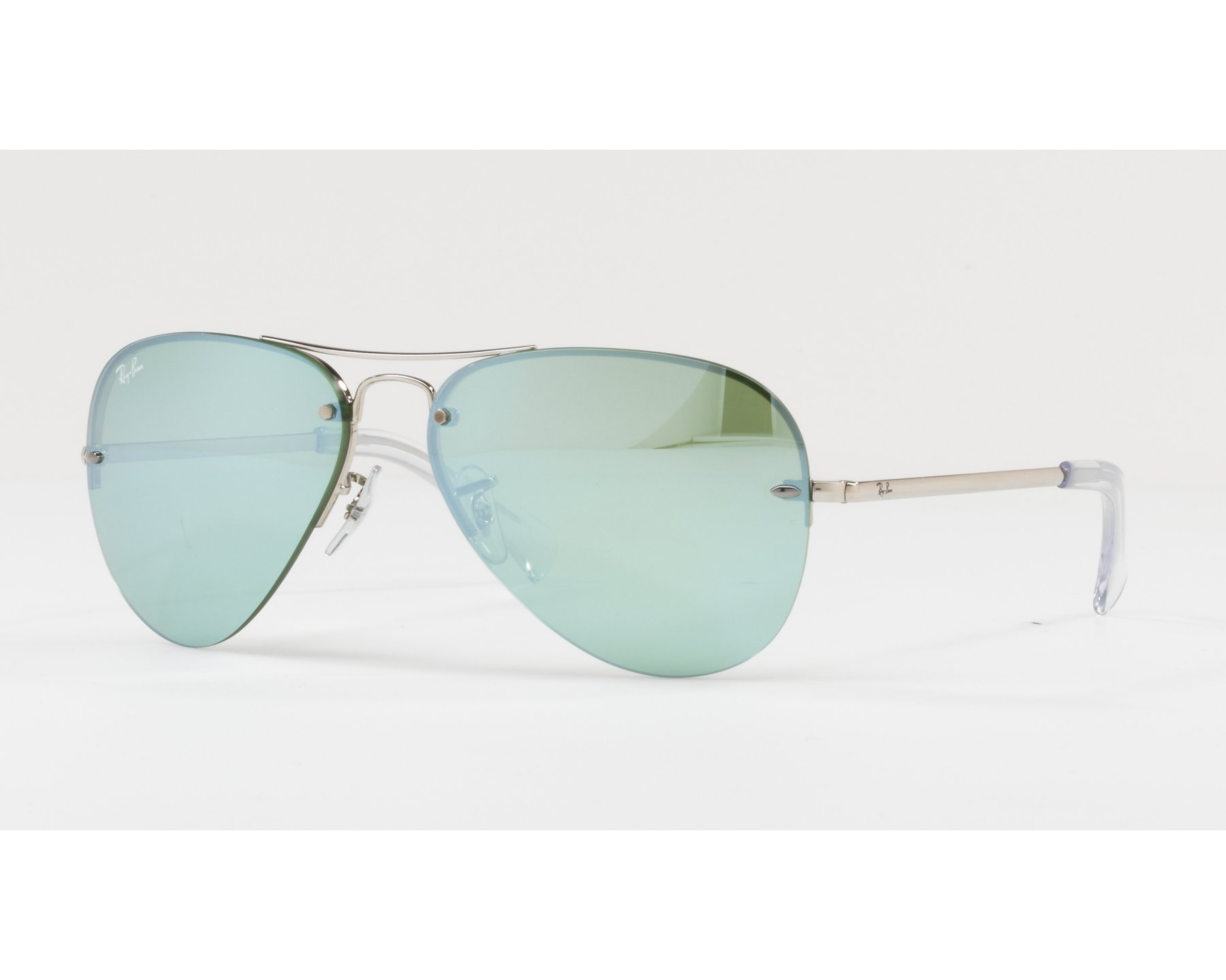 Ray-Ban RB3449 Sonnenbrille Silber 904330 59mm RnhMO0