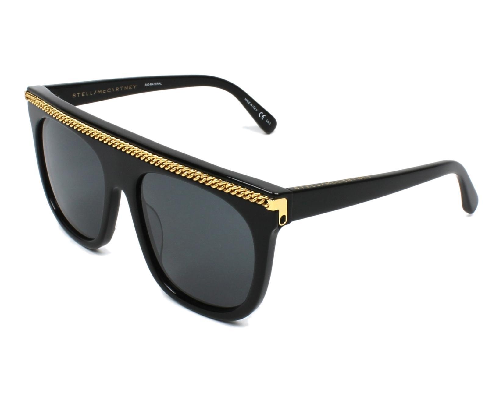 Stella McCartney SC0043S Sonnenbrille Schwarz 001 55mm hKKVR