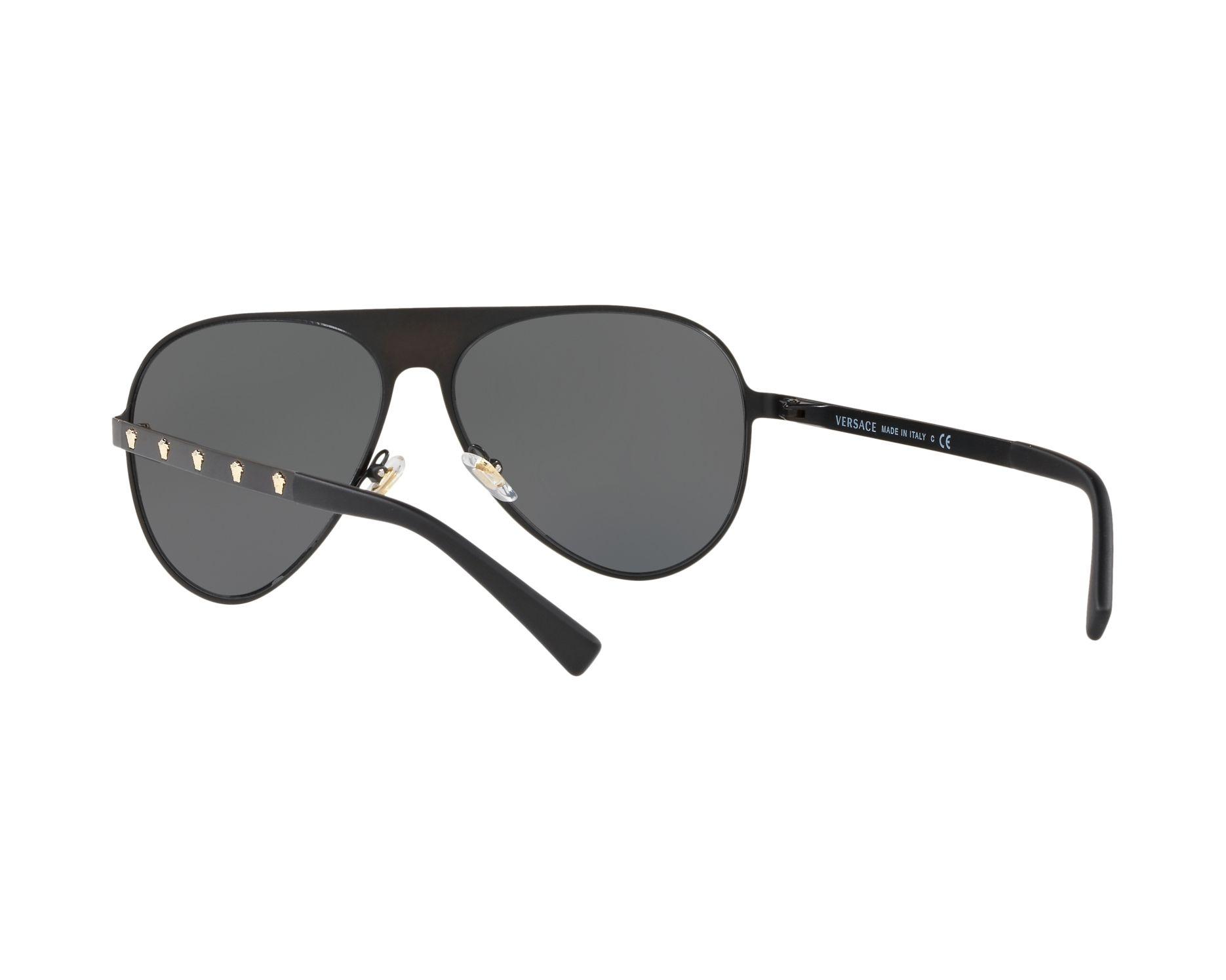 Versace Sonnenbrille » VE2189«, schwarz, 142587 - schwarz/grau