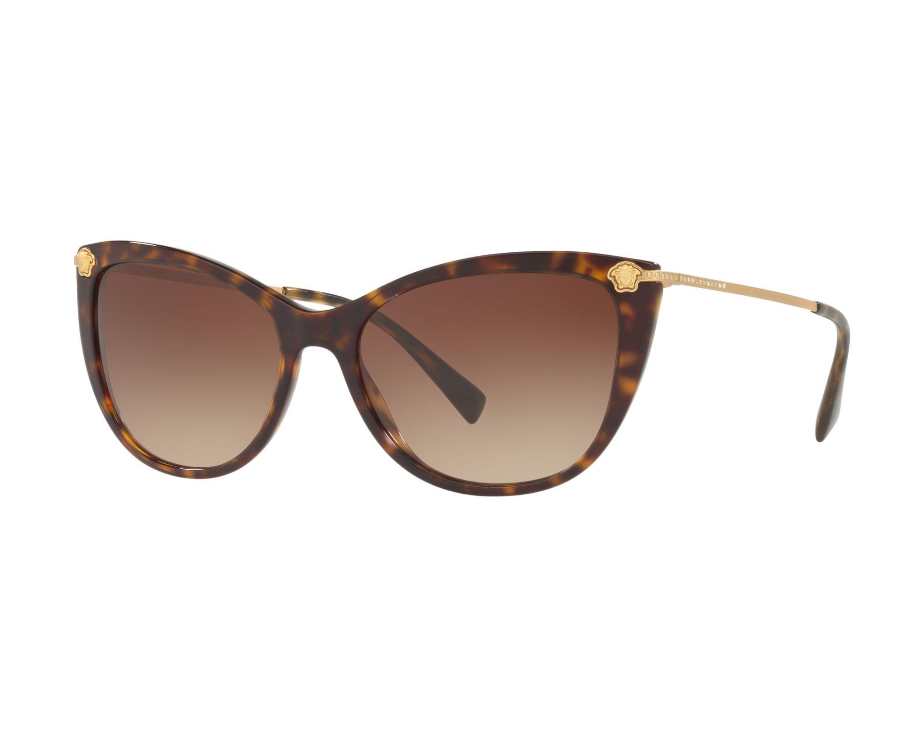 Versace Damen Sonnenbrille » VE4345B«, braun, 108/13 - braun/braun