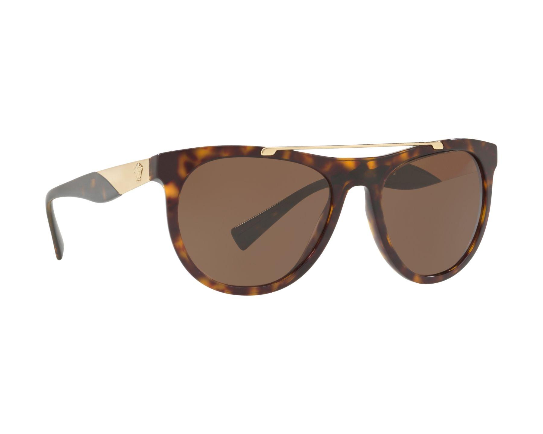 Versace Herren Sonnenbrille » VE4347«, braun, 108/73 - braun/braun