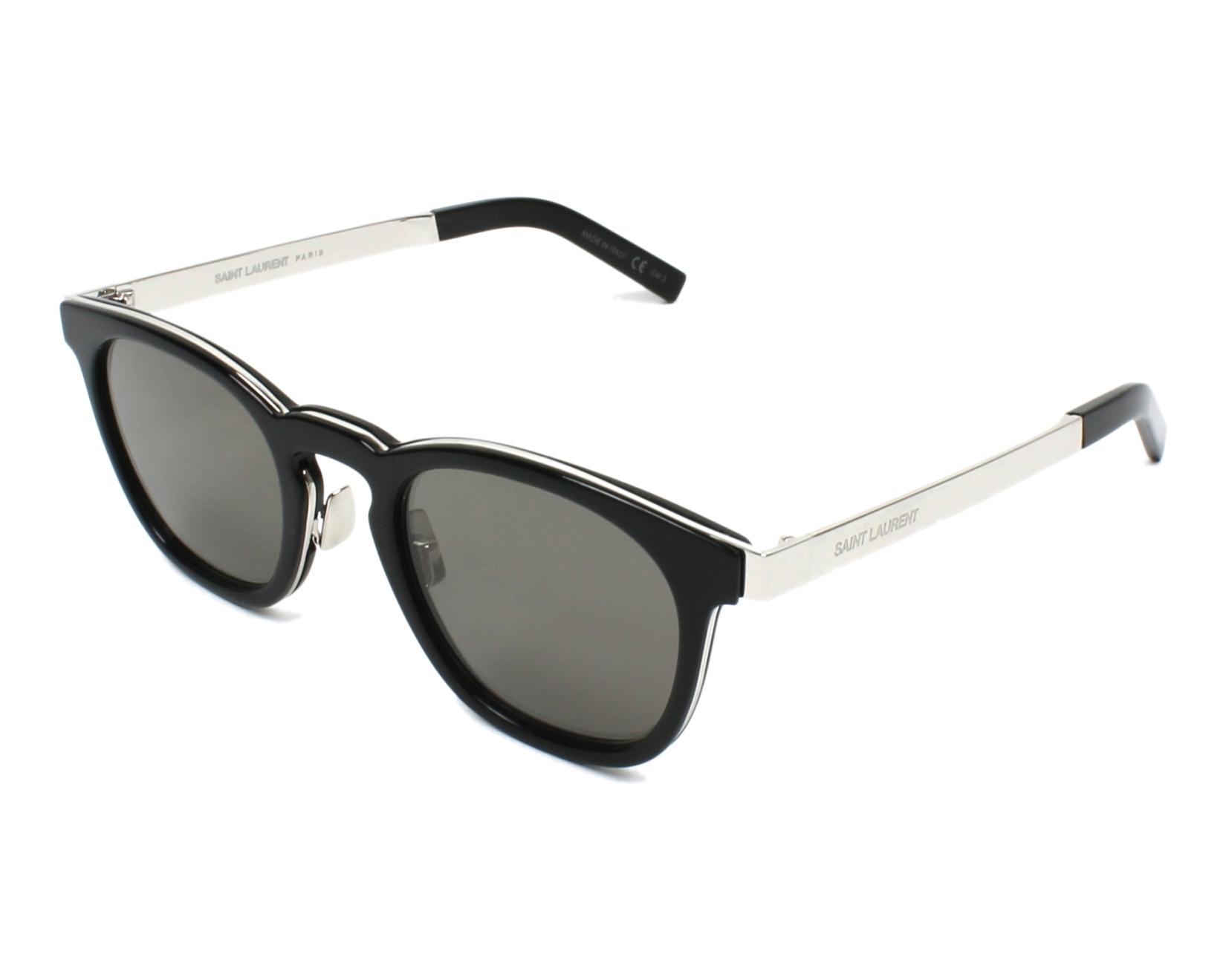 Saint Laurent SL28 Sonnenbrille Schwarz 001 49mm 2V8Oi4M23O